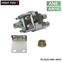 Wholesale Tansky High Quality Universal Oil Filter Cooler Sandwich Plate Adapter silver TK OL03 AN8 AN10 Have In Stock
