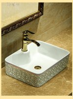 Wholesale The stage basin The sink Art basin ceramic face basin square