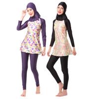 8caa55644c Muslimah Swim Hajib Muslim Swimsuit Plus Size Islamic Swim Wear Full Cover  Long Modest Swimwear for Muslim Girl Women