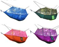 Wholesale hot outdoor sport mosquito protect net double hammock tents g T polyester cloth
