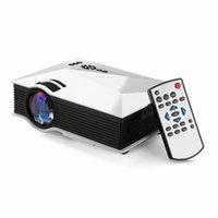Vente en gros-2016 Nouveau Quarice UC46 WIFI portable LED Vidéo Projecteur de cinéma maison PC portable VGA / USB / SD / AV / HDMI Mini projecteur de poche sans fil
