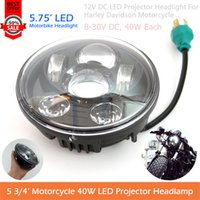 Wholesale 1Pc Black quot Round LED headlight For Motorcycle Harley quot Road Glide Daymarker