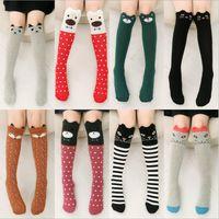 Wholesale Girls Fox Socks Cartoon Animal Socks Princess Cotton Knee High Socks Kids Fashion Long Sports Stockings Leggings Leg Warmers Tights B1465