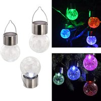 attraction lights - The new solar attractions crack ball hanging lights colorful decorative solar garden lights