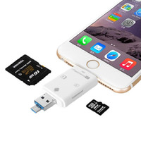 Wholesale 3 in iFlash Drive HD USB Micro SD SDHC TF OTG Card Reader for iPhone7 plus s s plus ipad ios Device for All Android Cellphone