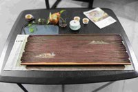 Wholesale Hand painted ebony tea tray of the fishing alone