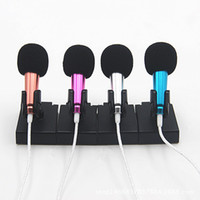 Wholesale 3 mm Mini Microphone Fashion Portable Mic Metal Karaoke for IPhone IOS Android Smartphone PC
