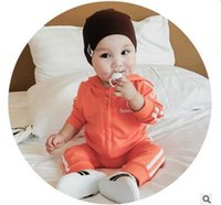 Wholesale Baby printed baby sports suit spring season new fashion unisex children two piece dress of direct marketing