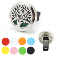 air freshener trees - Family Tree of Life L Stainless Steel mm Round Magnetic Locket Aromatherapy Essential Oil Diffuser Vent Clip Car Air Freshener