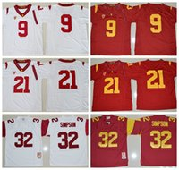 Wholesale 2016 Stitched USC Trojans College Football Jerseys JuJu Smith Schuster Adoree Jackson O J Simpson Jersey Best Quality