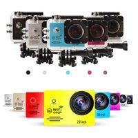 Precio de Camera underwater-SJ7000 2.0INCH LCD WIFI Acción Cámara Full HD 1080P 170 grados lente Underwater 30M Mini grabadora de cámara + batería extra