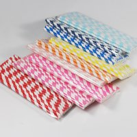 Wholesale New Pattern Hot Sale Colored Straw Popular And High Quality Paper Straws Customed For Party Supplies Drink Water xs