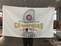 Wholesale factory price hot sale ftx5ft world series champions Chicago Cubs flag with gromments