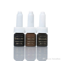 Wholesale 3 Bottles New Beauty Semi Permanent Makeup Pigment ML Bottles Eyebrow Tattoo Ink Hot Sale