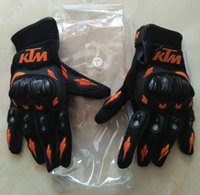 Wholesale hot sales Newest KTM Motorcycle Glove Full Finger Motocross Armor Guantes gloves size M L XL XXL
