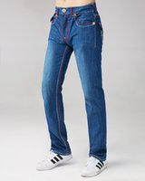 Wholesale New Men s True Jeans High Quality Trousers Denim Designer Dark Solid color Straight tr Jean For Men Pants