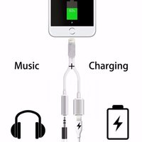 Wholesale 2in1 For iPhone7 Plus s Plus sPlus Earphone Converter Adapter Cable mm Jack Lighting Connector For iPhone Plus in Charging