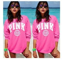 Wholesale Women Pullovers Love Pink Letter VS Sweatshirt Printed Clothing O Neck Long Sleeve Soft Warm Pullover Female Fashion High Qaultiy Tops