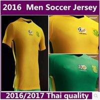 africa teams soccer jersey - Best Thai quality South Africa Home yellow away green jerseys national team Shirt uniform