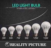 Wholesale E27 led bulb lighting LEDs SMD ball W W W W W AC110v V annular bulb holder led spotlight wall Candle Downlight For Living Room