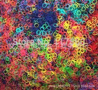 Cheap Wholesale-Mixed Colorful Loom Bands for DIY Gift (600 pcs Bands+20S-clips per pack) Free shipping