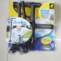 Wholesale GET UP AND GO CANE Trekking Poles LED Light Foldable Triple Head Pivot Base Hurry Secure with Retail Package