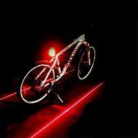 bicycle laser lane - Super Laser Bike Light LED Rear Bicycle Lamp Light IDS666 Bicycle Tail Lamp Laser Tail Bike Taillight Lane Set Safety Warning Lights