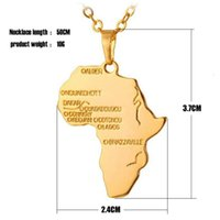african map necklace - African Map Hip Hop Style Gold Plated and Silver Plated Pendant Choker Necklaces for Men and Women