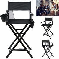 Wholesale Professional Makeup Artist Directors Chair Wood Light Weight Foldable Black New HW46460