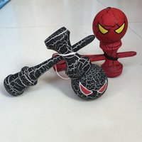 Wholesale Hot Spider Man kendama ball cm Professional game top quality full crack paint beech ball skills