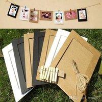 Wholesale 10Pcs Set Paper Photo Flim Frame Wall Picture Album DIY Hanging Rope Camp