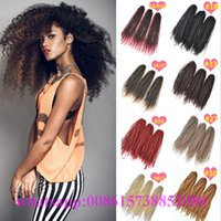 afro extension hair styles - Synthetic curly hair afro twist braids crochet hair extensions bohemian styles braided bulk hair bundles short curly
