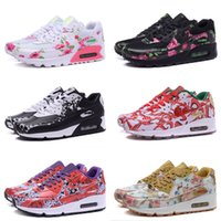 air free borders - 2016 New Classical white black Maxes Casual Shoes Flowers Women shoes Brand Air Soft Cushion Kids Sneakers Eur Size