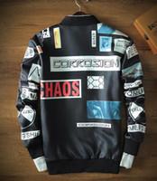 Wholesale New GD with kanye palace vlone the baseball jacket jacket space cotton sweater coat trend printing man