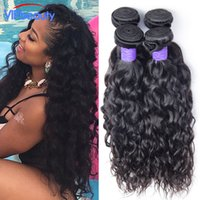 Indian Hair Natural Wave Under $100 Ali moda Indian water wave 4 bundle deal Unprocessed raw Indian virgin hair wet and wavy human hair weave