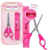 Wholesale Fringe Trimmer Fringe Sets Hair Scissors DIY Beauty Tool with Level Ruler