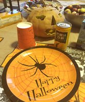 Wholesale Halloween Party Supply Tableware Decorations Assortment Pack Plates Sizes size Napkins set Cups pack of