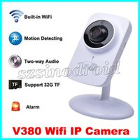 apple wifi security - Wireless CCTV IP Camera P2P Network Camera Video Surveillance WiFi Home Security System V380 Portable Smart Wifi Camcorder For Android apple