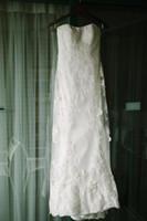 Precio de Cordón de la envoltura con cinturón vestido de novia-El cordón sin tirantes de la envoltura de la envoltura rebordeó la correa de la cinta Appliques los vestidos de boda del vestido nupcial cor-152 Novias Casamento Tamaño de encargo