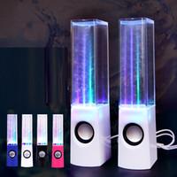 Precio de Fuente de la música llevado-Mini fuente de agua Colorful cuadrados altavoces de ordenador 2017 bocinas de baile de agua creativa altavoces de luz LED de música reproductor de audio portátil