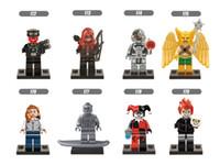 Plastics Unisex 2-4 Years Free Shipping 8pcs Avenger Superhero Mini Bricks Set Children's Digital Blocks Silver Shadow Knight Ghost Rider Red Skull