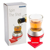 Wholesale Funny Spin The Shot Novelty Shot Drinking Game with Spinning Wheel Funny Party Item DHL Free JU010