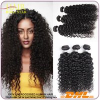 Brazilian Hair Weave Trama Deep Curly puede ser teñido Silky Indian Malasia Peruvian Hair Extensions Mink Deep Curl Paquetes de pelo humano