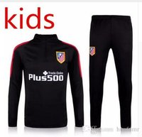 Wholesale 2016 real madrid Tracksuits top Atletico Madrid quality Training suit BENZEMA kids PSGs juve Atletico Chelsea united football T