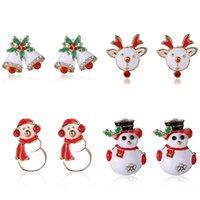 animal earring tree - Women Christmas Fashion Joker Snowman Gifts Animal Stud Earrings Cute Green Christmas Tree Studs Earrings Girl s Children Kids Stering