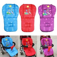 Wholesale Winter New Baby Infant Stroller Cushion Giraffe Cartoon pattern Car Seat Pad Cotton Warm Thick Cart Cover Mats