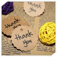 Wholesale 50pcs Kraft Paper Thank You Gracias Gift Tag Wedding Favors Party Accessories DIY Burlap Wedding Vintage Wedding Decoration