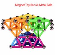 bar magnets for kids - Colorful Magnet Toy Bars Metal Balls Kids Magnetic Building Blocks LEDConstruction Toys Accessories DIY Designer Educational Toys For Kids