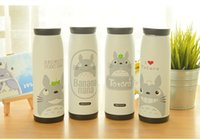 Wholesale Simple life Stainless steel thermos vacuum cup cartoon cat totoro series thermo mug insulation cup