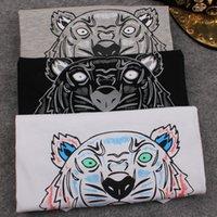 bell tiger - Summer European style Brand T shirt Women Tee shirt Tiger head Letters Print T shirt Cotton Short sleeve tshirt Womens Tops